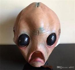 Masques alien en latex en Ligne-Halloween Super Horrble Zombie Masque Diable Fantômes Maskes Dégoûtant Sanglant Zombie Alien Bar Caoutchouc Latex Costume Party 28rj gg