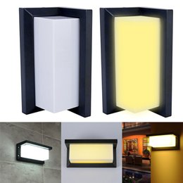 2019 portes de porche Lampe de mur imperméable extérieure en aluminium moderne de lampe de mur de 10W LED promotion portes de porche