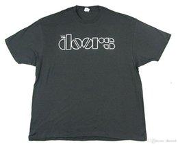 Canada T-shirt Logo gris The Doors White Nouveau groupe officiel Merch Classic Offre