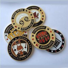 fichas de póker de metal Rebajas Metal Banker Press Card Poker Chips Texas Hold'em Accesorios Souvenir monedas conmemorativas porker estrella Protector SC139