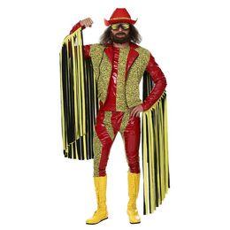 2019 mulheres vestido colonial 2018 Irek Traje de Halloween quente Adulto Homens wrestler profissional Americano Randy Zarva traje Cosplay roupas de festa