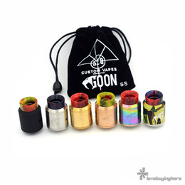 Wholesale Ecig Colors - Goon V1.5 RDA Ecig Atomizer 24mm 528 Custom Vapes Multi Colors Goon 1.5 with Resin 810 Drip Tip Best Goon RDA