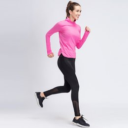 Женщина бег трусцой онлайн-Women Yoga Sets Running Fitness Shirts +Pants Suits Sportswea Running Gym Yoga Leggings Sexy jogging Suit Gym Workout Clothes
