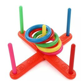 Wholesale Intelligence Games Kids - New Fashion Kids Fun Game Classic Intelligence Educational Toys Throw Ring Toss Children Fitness Toy Sports Apparatus 6 5hy W
