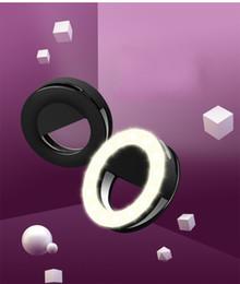 nuova fotografia leggera Sconti New RK14 ricaricabile Selfie Ring Light con fotocamera LED Fotografia Flash Light Up Selfie con cavo USB universale per tutti i telefoni