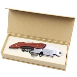 Hippocampique Couteau ouvre-bouteille en bois en acier inoxydable Can vin rouge Ouvreurs Multi Function vis Tire-bouchon de cuisine Petits outils 9 5xj VY ? partir de fabricateur