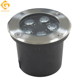 Wholesale Led Ground Rgb - LED Underground Lamps 5W 12V IP67 Buried Recessed LED Outdoor Ground Garden Path Floor Yard Lamp Landscape Light RGB Engineering Lights