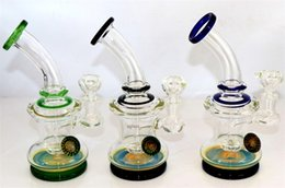 Wholesale Mm Base - heavy glass banger hanger,glass bong with flower decor. 14 mm joint color base , dab oil rig wax joint, shower head perculator