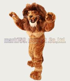 costume de mascotte de lion de muscle Livraison gratuite La taille adulte, la fête de carnaval de peluche de mascotte de lion chaude célèbre les ventes d'usine de mascotte. ? partir de fabricateur