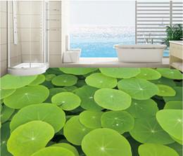 Wholesale Lotus Paper Wallpaper - modern wallpaper for living room 3D lotus leaf floor mapmural 3d wallpaper 3d wall papers for tv backdro