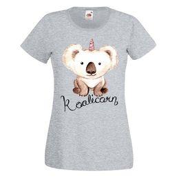 einhorn gold Rabatt Koalicorn-T-Shirt der Damen-Australien-Koala-Unicorn-Geburtstags-Geschenk-Spitzenneuheits-kühle Oberseiten-Mann-Kurzschluss-Hülse Tshir der lustigen Frauen