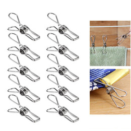 Wholesale Peg Racks - Excellent Quality New Multipurpose Stainless Steel Pegs Hanging Pins Clips Household Clamps Socks Rack Party Wedding Birthday Decoration