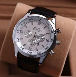 Wholesale Mens Dress Watch Brown Leather - AAA Top Mens Watches Montre Homme Swiss Luxury Brand RO Men Quartz Wristwatches Reloj Hombre Dress Business Male Clock relogio