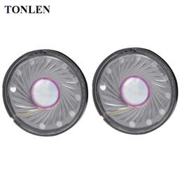 Wholesale Radio Horn Speakers - TONLEN 2PCS 40mm Stereo Headphone Speaker Kit 0.5W 32ohm Dynamic Moving-coil Speaker Accessories Headset HiFi Horn Parts