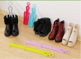 Wholesale Hot Candy Shoes - Hot Sales ! Candy Color Plastic Boots Clip Foldable Boots Stander High Boots Supporter Shoes Tree 4 Colors