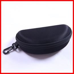 Wholesale Safety Case Box - New Black Glasses Eyeglasses Safety Zippered Hard Case Carry Box Glasses box