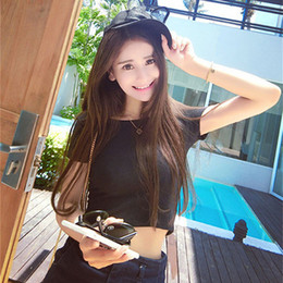 b60f173716bbe 2019 New Short Sleeves Tops Sexy Women Basic Tees Cropped Tops Fashion Slim  Brand Fitting Tank Tops Corset Clubwear Blusa