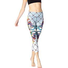 8ebfff3255 red capri yoga pants Coupons - Workout Yoga Pants Flower Print Yoga Capri  Pants Zunaba Cropped