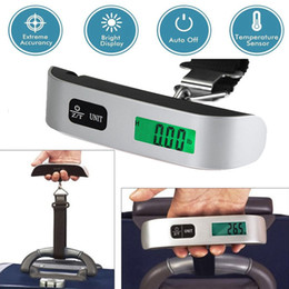 Wholesale lcd luggage scale - 50kg 10g Portable Travel LCD Digital Hanging Luggage Scale Electronic 110lb Suitcase Weight
