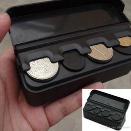 Nuova pratica scatola portamonete per auto scatola di immagazzinaggio di monete sciolte con porta monete salvadanaio da