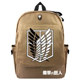 2019 ataque titan anime bag Ataque anime em Titan Scouting Lona Mochila Bolsa Para Laptop Saco de Escola Ombro Viagem homens mulheres Mochila Pacote ataque titan anime bag barato