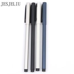 Schwarz Silber Business Metall Roller Kugelschreiber 0,5 mm Kugelschreiber Büro Schule Schreibwaren von Fabrikanten