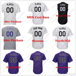 Wholesale Army 4xl - Custom Blank Colorado Jersey Men Women Youth Baby toddler Size S, 4XL, 5XL Flexbase Cool Base Home Away All Stitched