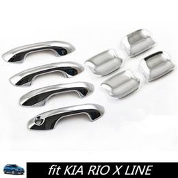 Wholesale car exterior door handle - Car Door Handle Cover RIO X LINE Chromium Styling Door Bowl Pull Exterior Handle Bowl Cover for KIA RIO X LINE 2017 2018