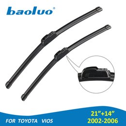 "Wholesale Vios Cars - BAOLUO 21""+14"" Windshield Wiper Blades For Toyota Vios 2002 2003 2004 2005 2006 Windscreen Natural Rubber Car Auto Accessories"