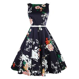 8a6fd1b5be99 2018 Summer Dress Vintage Floral Bodycon Sleeveless Casual Evening Party  Swing Dresses high quality Bandage Vestido