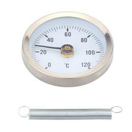 Canada Jauge de température à pince de thermomètre de tuyau de surface d'acier inoxydable bimétallique de 0-120 centigrade avec le termometro de tuyau de ressort utilisation industrielle Offre