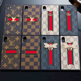 Canada 2018 Nouveau Style Cas De Téléphone De Mode pour IPhone X XS Max XR 8 7 6 Plus Designer De Luxe Bretelles Cou Couverture de Téléphone Bling Abeille Anglais Style Offre