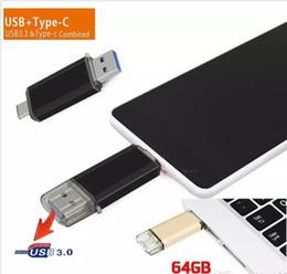 Memoria flash usb para teléfono online-USB 3.0 OTG Dual Micro USB Flash Pen Thumb Drive Memory Stick para PC Color del teléfono mezclado
