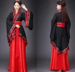Ropa de damas chinas online-Traje nacional de Hanfu Traje chino antiguo de Cosplay Traje chino antiguo de las mujeres Hanfu Señora Vestido de la etapa