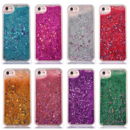 Wholesale Star Mobile Case - Bling Powder Bling Phone Case With Star For iphone x 8 7 6 6s 5 5S Plus Cellphone Bulk Luxury Sparkle Mobile Cover