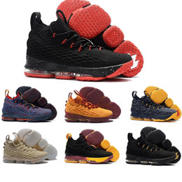 Wholesale ash black sneakers - With box High Quality Ashes Ghost cavs equality James 15 15s men Basketball Shoes James 15 sports Sneakers 15s Mens Casual Shoes 7-12