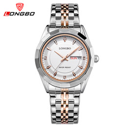 7ef4816d603 mulher relógio longbo Desconto Atacado-LONGBO top marca de luxo relógio de  quartzo das mulheres