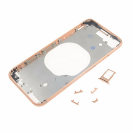 iphone replacement backs wholesale Australia - 5PCS New Back Housing Middle Frame Bezel Chassis With Side Button Key Sets Repair Replacement for iPhone 8 8 Plus X