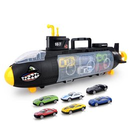 Cars Toy Storage UK   LilyToyFirm Childrenu0027s Toy Shark Submarine With 6  Alloy Car Models Portable