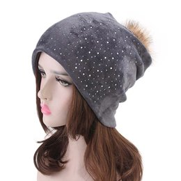 Women Velvet Hats Winter Warm Hats Ear Warmer Beanie Casual Caps Women s  fleece cap 6cd73094c9ad