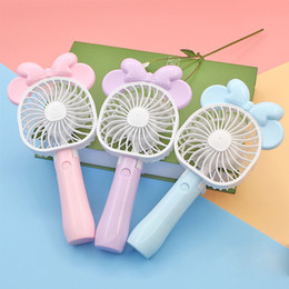 Wholesale mini folding usb fan - Mini Folding Portable Fan Cartoon Cat USB Rechargeable Foldable Handheld Summer Air Cooler Cooling Fan Portable Fan Kids Toys ZB012 14