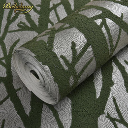 Wholesale Green Tree Wallpapers - beibehang papel de parede 3d Tree branches wallpaper for walls 3 d Embossed Wall Paper For Bedroom Living Room contact-paper
