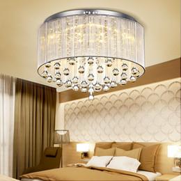 Canada Moderne Mode Tissu Plafonnier Lustre lumière Crystle Pendentif Lampe Cristal Plafonnier Salon Chambre Blanc Pourpre Rouge Noir cheap led purple ceiling light Offre
