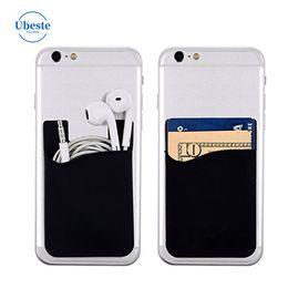 Наклейка для футляра для телефона онлайн-UBESTE телефон карты карманный стикер 3 м клей стикер ID кредитной карты бумажник карманный чехол рукав универсальный телефон случае samsung с OPP мешок