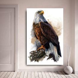 2019 pinturas águias águias 1 Pcs HD Impressão Qaulity Pinturas A Óleo Da Lona Águia Animais Modernos Arte de Parede Pictures Para Sala de estar Sem Moldura pinturas águias águias barato