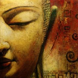 2019 lona de pintura abstrata da cara Pintados À mão Feng Shui Zen Buddha Rosto Arte Da Parede na Lona Pintura A Óleo Abstrata Moderna Contemporânea para Casa Sala de estar Decoração Do Escritório SH56 desconto lona de pintura abstrata da cara