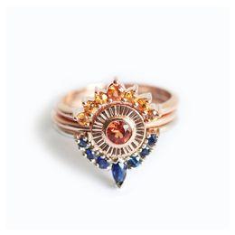 nickel free jewelry settings wholesale 2018 - LNRRABC 3pcs Set Rose Gold Color Rhinestones Ring High Polished Lead & Nickel Free Ring Fashion Jewelry For Women Party