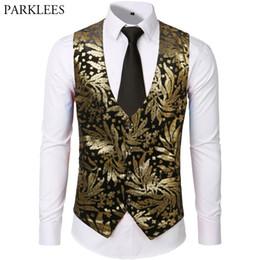 Mens Hipster Steampunk Gilet Hommes De Luxe Or Bronzage Discothèque De Bal  Costume De Noce Groom Tuxedo Gilet Gilet Homme peu coûteux gilets de mariage  en ... 6ffcd7c9733