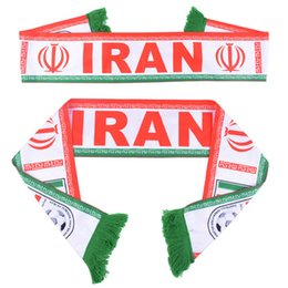 Wholesale Football Teams Flags - Russia World Cup 2018 football fans Scarf Of Iran Soccer Fan Scarf Iran National Team Scarf Flag Banner