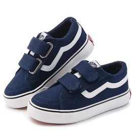 Jeans para meninos meninas on-line-Lona Crianças Sapatos Esporte Respirável Meninos Tênis Crianças Sapatos para Meninas Jeans Denim Casual Criança Botas Planas
